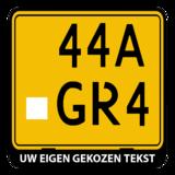 Brommer / scooter kentekenplaathouder liggend met eigen tekst (ENKEL DE HOUDER!)_