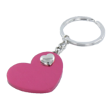 Sleutelhanger hartvormig rood_