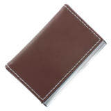 Visitekaarthouder brown line_