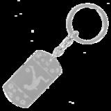 Sleutelhanger dogtag chrome met print_