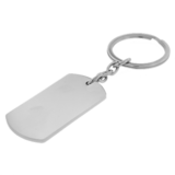 Sleutelhanger / ketting hanger dogtag chrome met tekening_