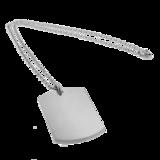 Sleutelhanger / ketting hanger dogtag chrome met vingerafdruk_
