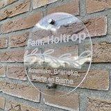 Naambordje voordeur rond 20 cm & 30 cm diameter_