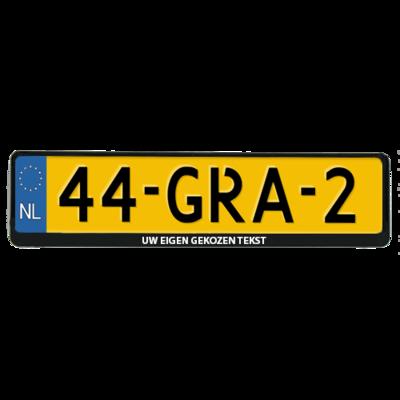 Auto kentekenplaathouder met eigen tekst (ENKEL DE HOUDER!)