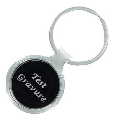 Sleutelhanger black round