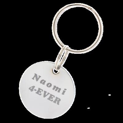 Sleutelhanger / ketting hanger rond 30mm chrome