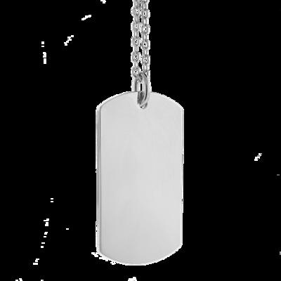 Sleutelhanger / ketting hanger dogtag chrome