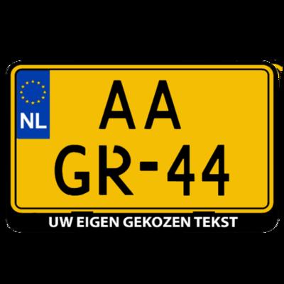 Jeep / Caravan kentekenplaathouder met eigen tekst (ENKEL DE HOUDER!)