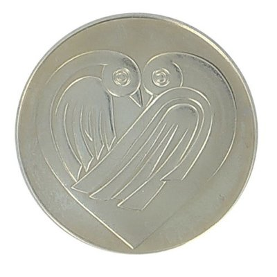 Liefde / trouw penning 37 mm