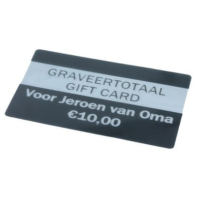 Graveertotaal gift card