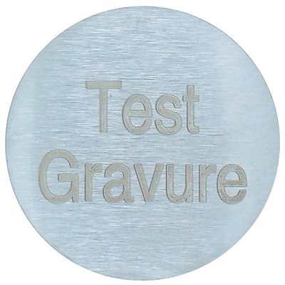 Aluminium naambordje geborsteld rond 60 mm