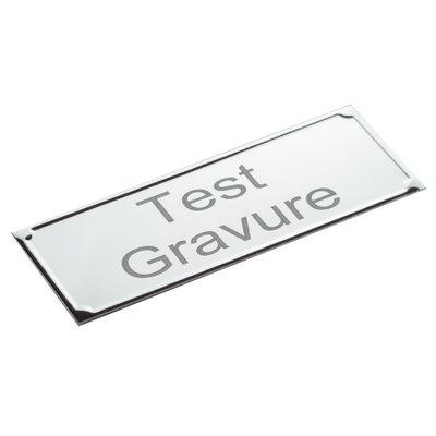 Aluminium naambordje deluxe 105 x 40 mm