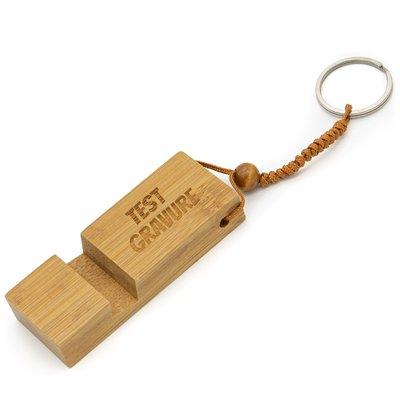 Sleutelhanger telefoonhouder bamboe