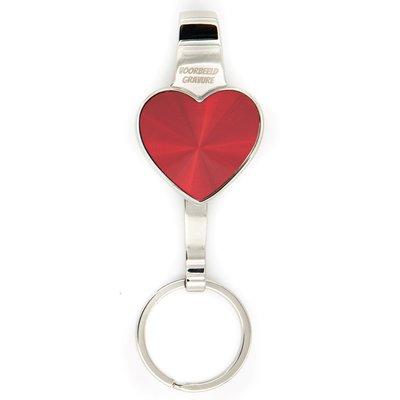 Sleutelhanger hart rood