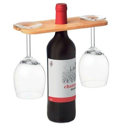 Bamboe wijnglashouder