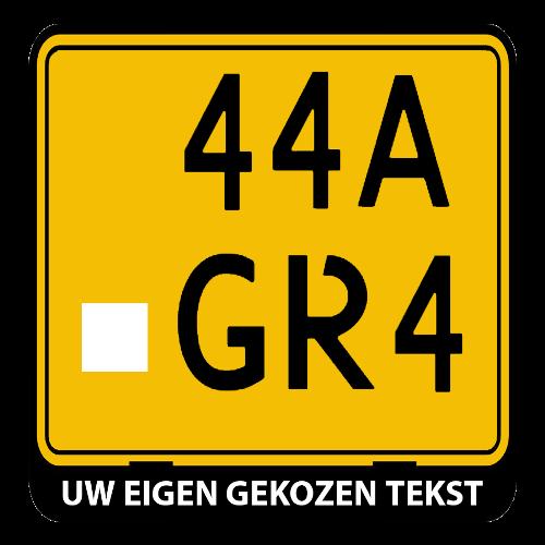 Brommer / scooter kentekenplaathouder liggend met eigen tekst (ENKEL DE HOUDER!)