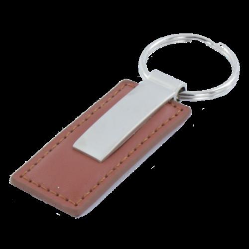 Sleutelhanger brown line rectangle 2