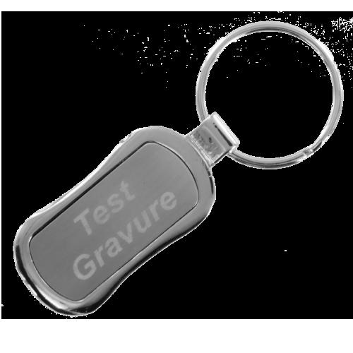Sleutelhanger silver rectangle 2