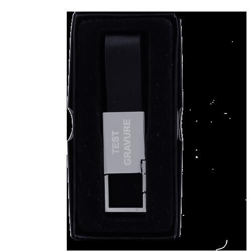 Sleutelhanger chrome rectangle