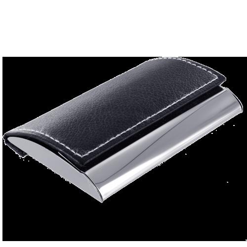 Visitekaarthouder elegance black line rectangle