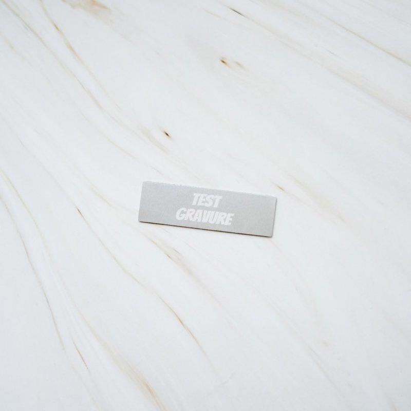 Aluminium naambordje geborsteld 50 x 15 mm
