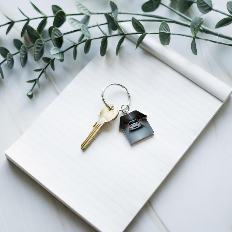 Sleutelhanger met foto huis deluxe small