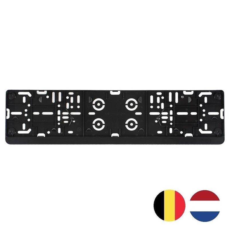 Auto kentekenplaathouder met eigen tekst Nederland en België (ENKEL DE HOUDER)