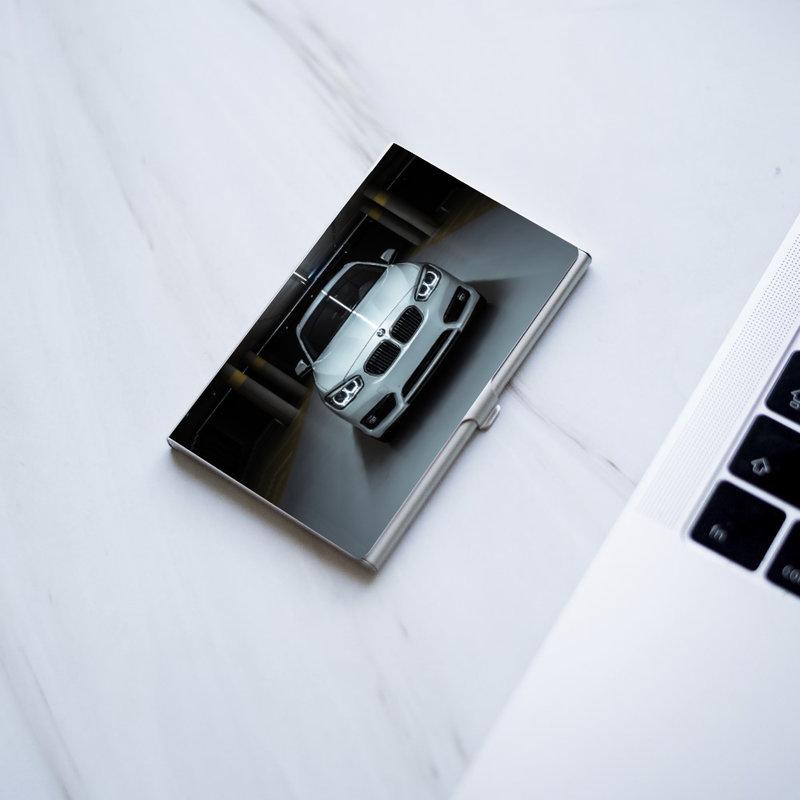 Visitekaarthouder metaal met foto