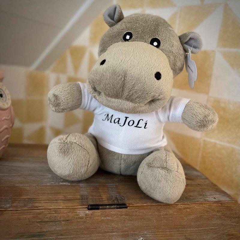 Knuffel met naam Nijlpaard