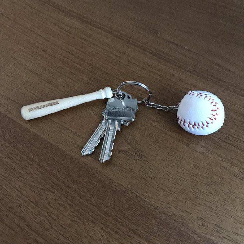 Sleutelhanger honkbal knuppel