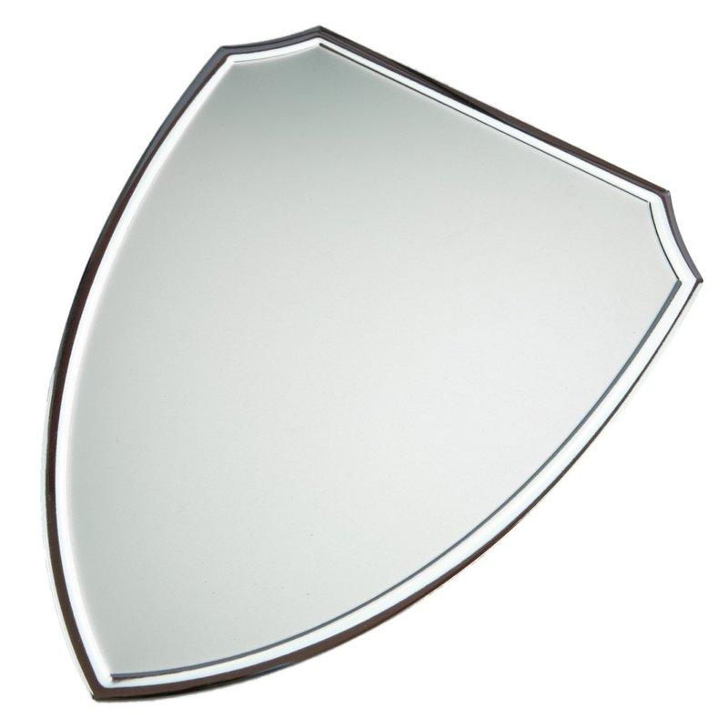 Aluminium naambordje schild smal 154 mm x 122 mm