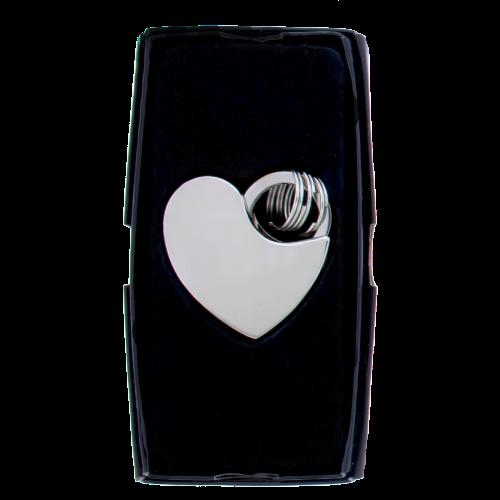 Sleutelhanger chrome hart