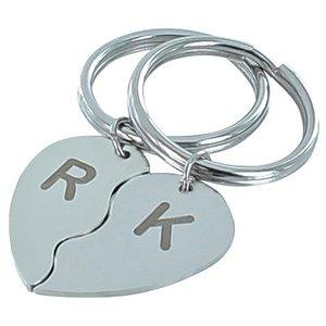 Sleutelhanger hart couple set van 2 stuks